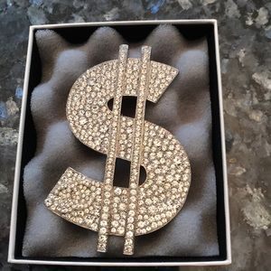 Authentic CHANEL dollar sign brooch